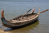 A typical local boat in Taungthama…