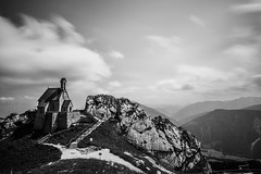 church in the sky (Dongringo) Tags: bw cloud black zeiss germany landscape bayern deutschland bavaria sony carl alpha za slt bayrischzell a99 variosonnart281635 slta99v