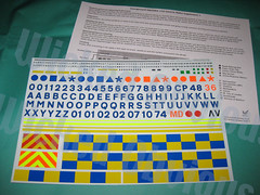 Emergency43 1/43 Generic Police Supplement 1 decals & instructions (wicked_obvious) Tags: 3 car code sticker conversion police vehicle decal waterslide transfer emergency diecast code3
