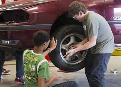 """Skills Work!"" Camp (Loyalist College) Tags: summer cars children lab july automotive technical professor chemicals mechanic mixture kidscamp bioscience 2013 skillscamp skillscentre"