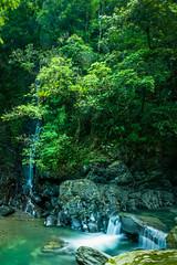 Cascades Make Endless Sounds (bamboolizer) Tags: summer green nature water nikon stream taiwan cascade  d800      tiltshiftlens 24mmf35pce newtaipeicity schneider106ndensity64x lee9ndsoftfilter
