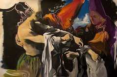 Obra Calle Castelar. MANUEL LEÓN. Greenberg love a Fer. 2013. Óleo y Spray sobre tela. Galería JM (Málaga)