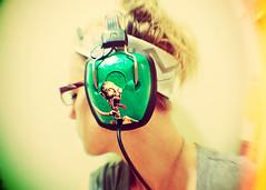 Dinosaur Jr Headphones (SOMETHiNG MONUMENTAL) Tags: music selfportrait green art me girl diy nikon dinosaurjr headphones tutorial d60 feelthepain somethingmonumental mandycrandell