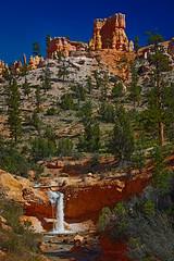 Waterfall, Eastern Bryce Canyon, Utah (jdp3az) Tags: creek utah waterfall sandstone canyon cliffs spire redrocks bryce