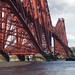Passing under the Forth Bridge, Firth of Forth, Scotland