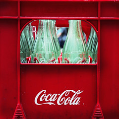 recycle (Chez C.) Tags: red stilllife glass closeup bottle cola bottles straw coke case drinks carton cocacola recycle
