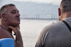 Se lo prendo (Marco Crupi Visual Artist) Tags: sea people italy man beach italia mare foto streetphotography uomo pesca spiaggia sicilia messina reportage pescatori vitadimare manandthesea fotograia luomoeilmare