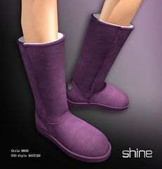 shine by [ZD] - Mesh Ugg Style Boots (shine & sharp by [ZD]) Tags: life pink brown black leather fashion by vintage fur demo grey for women shine dress place purple mesh boots market gray tan rosa grau retro lila sl lilac dresses second marketplace mp braun boho mode fell schwarz booties leder suede ugg uggs frauen fr kleidung kleid weiblich zd womenswear furlined gefttert wildleder inworld zddesign