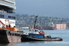 Storm Breeze Servicing A Cruise Ship (rog45) Tags: canada canon bc 7d burrardinlet tugboat tug tugs 18200 rog45 stormbreeze