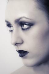 Blue (stefanko31) Tags: blue portrait woman girl face sepia model eyes nikon skin headshot lips d7100 nikond7100