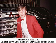 Nicholas Martin. First visit to Kirk of Dunedin. FL. 1985 (3) (gramrfone) Tags: cinema theatre organists
