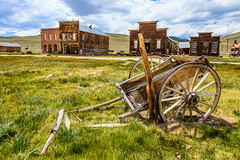 USA-120614-611 (Kelly Cheng) Tags: california travel usa house color colour building abandoned tourism architecture clouds landscape daylight us colorful day cloudy outdoor unitedstatesofamerica vivid bluesky nobody nopeople northamerica bodie colourful copyspace wildwest goldrush traveldestinations