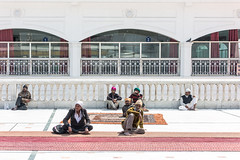 Resting (Gigin - NoDigital) Tags: people india man asia geography newdelhi sikhtemple