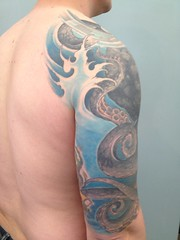 octopus cover-up (Body Graphics CMS) Tags: octopustattoo bodygraphicstattoo realistictattoo billfunk bodygraphicsonsouthst realisticcoveruptattoo realisticoctopustattoo octopusandwatertattoo waterscenehalfsleeve billfunktattoo