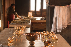 Preparing The Butter Lamps (Nick Mayo/RemoteAsiaPhoto) Tags: india festival monk offering tawang arunachalpradesh monpa