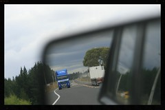 Truck reflections (Zelda Wynn) Tags: travel newzealand art car reflections mirror northisland trucks sh1 zeldawynnphotography