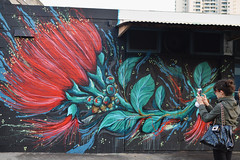 Photo Op (S.LAM Photography) Tags: streetart art graffiti hawaii district hawaiian honolulu graff powwow