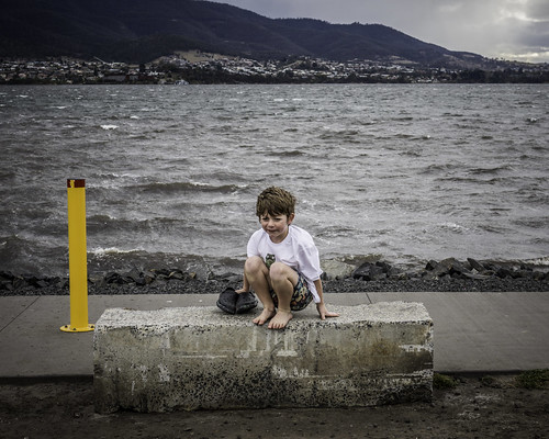 Ezra in repose #1, Glenorchy Art and Sculpture Park