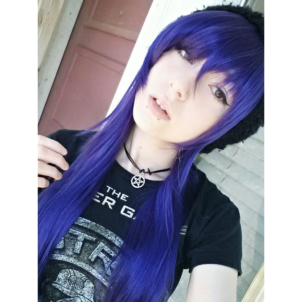 emo Lesbian girl goth