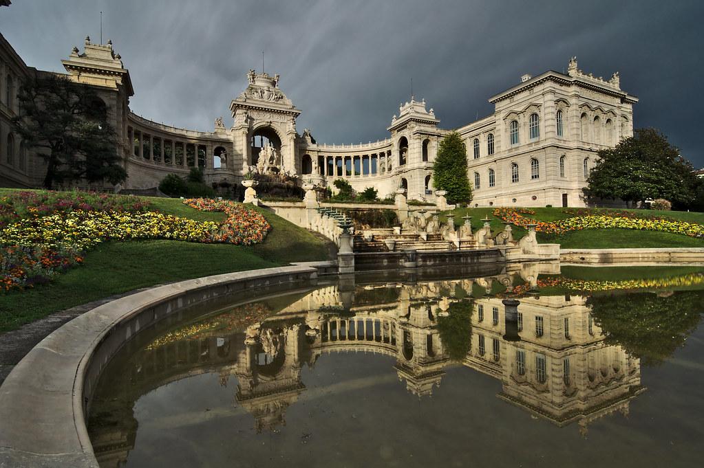 99b3b5cc46fd Longchamp Palace (alex notag) Tags  reflection architecture marseille  palace palais orage longchamp