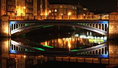Rory O More bridge Dublin at Night (Mick @ MBE) Tags: mbe rory omore roryomore bridge liffey night dublin ireland 2011 river riverliffey heritage architecture reflection streetscene street streetscape february spring