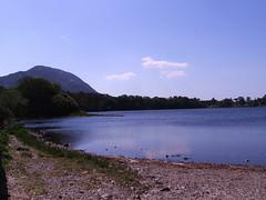 Near Kylemore (Paddy Wack) Tags: mountanls beautiful lake kylemore abbey connemara ireland water trees stones