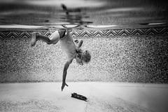 Torpedo diver. (lebramlett721) Tags: nikon d600 dicapac underwater blackandwhite littleboy child diving