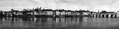 MAASTRICHT (jo.misere) Tags: panorama maastricht wijck kesselskade zw bw maas rivier river water wasser