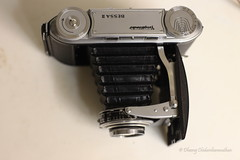 It's a lens with a bellows attached to it! WoW! (dheeruparu) Tags: voigtlander bessa ii 6x9 medium format film color skopar 105mm 35 range finder