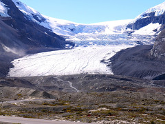 Looking Up The Glacier (Alan FEO2) Tags: ice glacier columbiaicefields alberta ab athabascaglacier explorer snow mountains sky hills rocks landscape scenery canada outdoors sunshine panasonic dmc g1 2oef