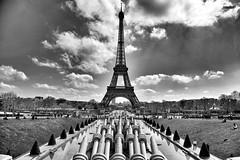 Eiffel Tower / Paris (mtudis) Tags: blackandwhite monochrome outdoor bnw fuji xt1 fujifilm xf18135mm paris france eiffel trum tower