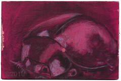 From Brad Carps (tofuart) Tags: pink pinkweek mailart postcard postal art
