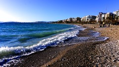 Greece-Faliro (vasiliki2009) Tags: sea seaside beach beauty blue building shore serenity scenery landscape water outdoor coast greece hellas    mare