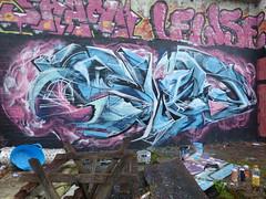 SLED (SledOne!) Tags: sled tag graffiti piece artwork photo blue amazing ukgraffiti mtn mtn94 loopcolours streetart abandoned place paint walls ironlak pinkandblue sledone