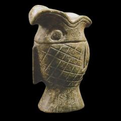 An Archaic Jade carved Fish Wine Cup 高古玉雕魚形酒杯