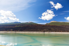Medicine Lake with remnants of 2015's Excelsior Wildfire (Jade Prints) Tags: jasper canada rocky mountains rockies alberta medicinelake