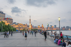 gold (stevefge) Tags: china shanghai huangpu rivers evening bund people candid lights walkers strolling view reflectyourworld
