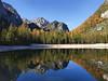 Autumnal reflections at Pragser Wildsee (Bernhard_Thum) Tags: bernhardthum thum h5d60 hc3550ii dolomiti dolomites fanes autumn alps nature pragserwildsee daarklands