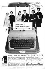 1950s Remington Typewriter Ad (Christian Montone) Tags: ads advertising vintageads adverts vintage print printads 1950s midcentury