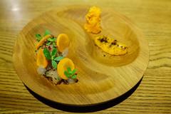 Hamachi Ceviche, Carrot Tartar, Ginger Vinegar & Puffed Quinoa (Premshree Pillai) Tags: singapore singaporeaug16 cure curesingapore dinnerforone tastingmenu food