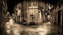 Barcelona. (darijan.mihajlovic) Tags: sepia street catalugna spain barcelona platinumheartaward flickrtravelaward empty planet emptyplanet