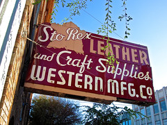 Sto Rex Leather, San Francisco, CA (Robby Virus) Tags: sanfrancisco california sf ca sto rex leather craft supplies metal sign signage store business closed