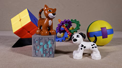 Lego duplo (Busted.Knuckles) Tags: home lego duplo toys minecraft rubikscube dog cat canonsl1