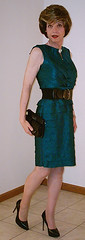 Belted Green Tiered Petals Dress (2 of 5) (s_a_essay) Tags: transgender
