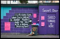 Missing Files (zweiblumen) Tags: missingfiles secretdoor graffiti streetart stokescroft bristol england uk canoneos50d polariser zweiblumen thepeoplesrepublicofstokescroft
