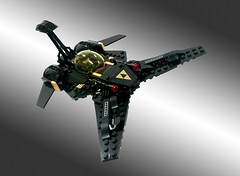 Updates Blacktron Vic Viper (Genghis Don) Tags: lego space spaceship spacecraft fightercraft fighter moc blacktron nnovvember 2016 vic viper