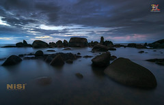 Emboss the Blues (Jose Hamra Images) Tags: temajuk batunenek sea seascape water landscape sunset sunrise beach indonesia singkawang kalimantan kalbar kalimantanbarat