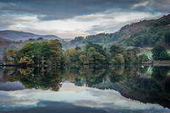 Mirror (semitune) Tags: rydal water lake district mirror pond tarn cloudy autumn mist england uk sony semitune
