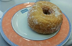 NHS Doughnut. (ManOfYorkshire) Tags: nhs crockery doughnut donut food snack plate ring side