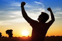 Sportsman with arms up celebrating success (tconwaystacy) Tags: copyspace leisure sport wellbeing exercising backlighting man workingout goals raised caucasian achievement smiling activity successful achieve sunny success up lifestyle country athlete sportsman motivation fitness beautiful raising wellness challenge workout happiness backlit arms summer sunset healthy vitality background male countryside happy outdoors freedom best sporty runner sun training spain